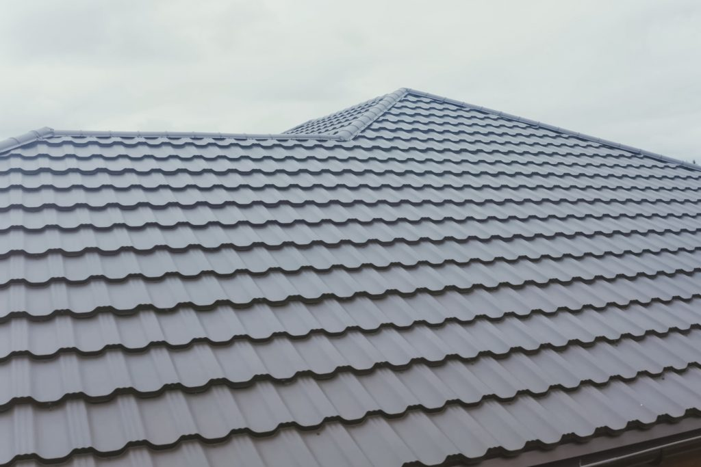 Residential House with a Metal Roof